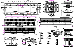 Secondary School Project of Jungle Region Area dwg file