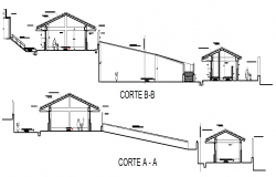 Section A-A' detail and section B-B' detail dwg file