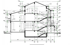 Section A-A' house detail autocad file