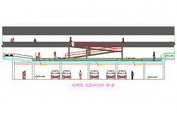 Section B-B'plan detail dwg file