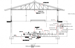 Section Booster station plan detail dwg file