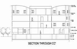 Section C-C' education center plan detail dwg file
