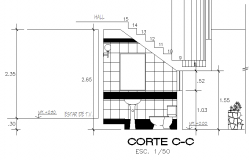 Section C-C' toilet detail dwg file
