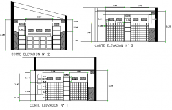 Section Cava restaurant liquor plan detail dwg file