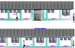 Section Details of Rural Hospital dwg file
