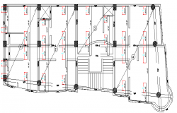 Section Details of Three Star Hotel Architecture Design dwg file