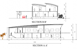 Section Garment factory plan detail