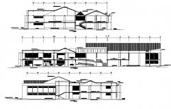 Section Library plan dwg file