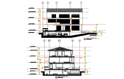 Section Modern house autocad file