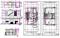 Section Plan of Villa Design dwg file