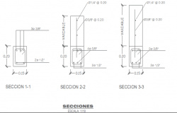 Section Reinforce anchor bar detail dwg file