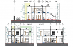 Section Residential house autocad file