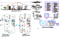Section and electrical plan layout file