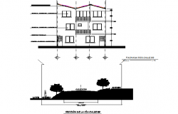 Section and elevation house detail dwg file