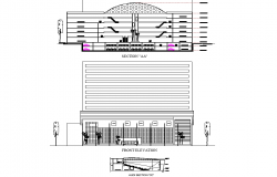 Section and elevation shopping mall autocad file