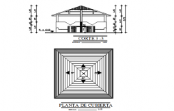 Section and plan detail dwg file