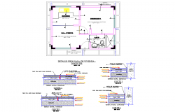 Section and plan house detail layout file
