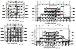 Section apartments detail dwg file