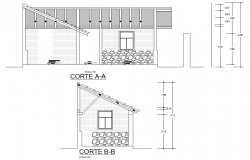 Section architecture plan family housing layout file