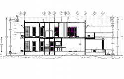 Section beach house detail dwg file