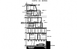 Section building plan detail dwg file