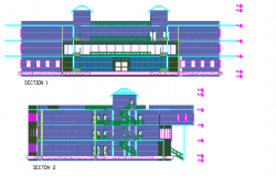 Section center line detail dwg file