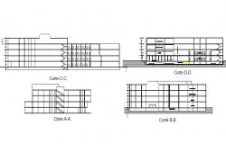 Section commercial office building plan detail dwg file