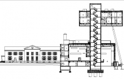 Section commercial plan detail dwg file