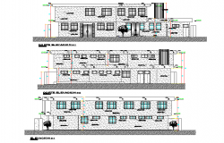 Section community clinic plan dwg file