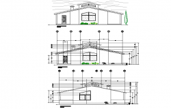Section cottage plan detail dwg file