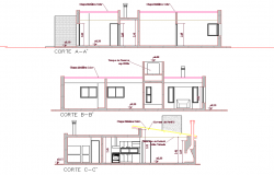 Section country house plan autoacd file