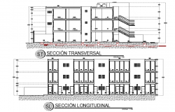 Section department house plan layout file