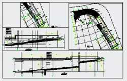 Section design drawing of Car ramp detail drawing