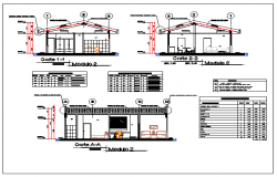 Section design drawing of Medical residence design drawing