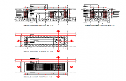 Section detail drawing of Diesel Filling Point design drawing