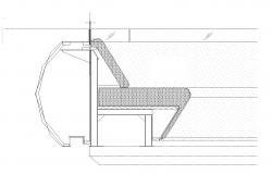 Section detail of a structure 2d view CAd construction block layout dwg file