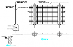 Section drawing of FENCE DETAILS design drawing