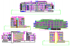 Section drawing of block of flats design drawing
