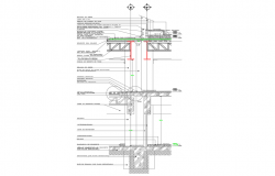 Section facade basement dwg file