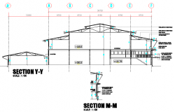 Section factory plan detail dwg file