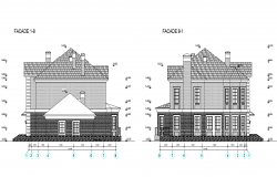 Section family house plan detail dwg file