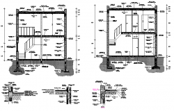 Section foundation details dwg file