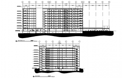 Section general hospital plan autocad file