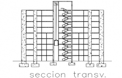 Section high rise building plan detail dwg file