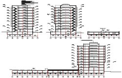Section high rise plan detail dwg file