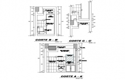 Section home plan detail layout file