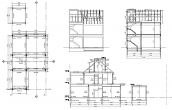 Section home plan dwg file