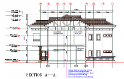Section house layout dwg file