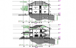 Section house plan detail