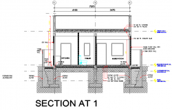 Section house plan layout file
